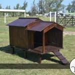 foto casa para perros de madera