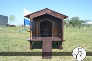 foto casita para perros de madera a medida