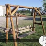 foto hamaca para jardin de madera