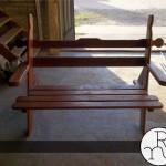 foto banco de madera para jardines