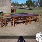 foto mesa para exterior con bancos